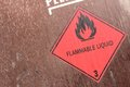 Flammable liquids pictogram for chemical hazard Stock Photos