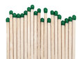 Flammable matchsticks with green heads Royalty Free Stock Photo