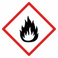 Flammable material sign vector design