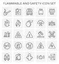 Flammable safety icon
