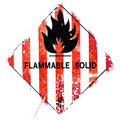 Flammable solid Stock Image