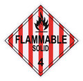 Flammable Solid Warning Placard Royalty Free Stock Photography