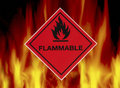 Flammable - Warning Sign Royalty Free Stock Photo