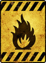 Flammable Warning Sign Royalty Free Stock Photo