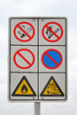 Flammable warning sign with for and explosion danger Stock Photography