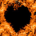 Flamme orange de forme de coeur Photo stock