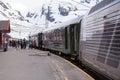 Flamsbana train at Myrdal, Aurland, Norway Royalty Free Stock Photo