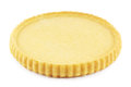 Flan case empty sponge cake on white Royalty Free Stock Photo