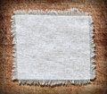 Flap burlap background piece of natural material can be used as Stock Photo