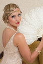 Flapper dress and headband Royalty Free Stock Photo