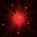 Flash background with light rays and stars Royalty Free Stock Photo