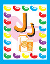 Flash Card Letter J nouns Stock Image