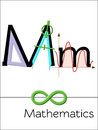 Flash card letter M is for Mathematics.