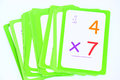 Flash cards colorful set of multiplication for kids on a white background Royalty Free Stock Photos