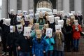 Flash mob anonymous kiev Royalty Free Stock Photo