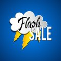 Flash sale with thunder illustration Royalty Free Stock Image