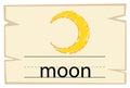 Flashcard design for word moon