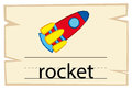 Flashcard design for word rocket
