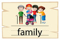 Flashcard desing for word family