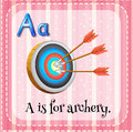 Flashcard letter A is for archery Royalty Free Stock Photo