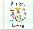 Flashcard letter B is for bowling Royalty Free Stock Photo