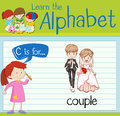 Flashcard letter C is for couple