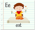Flashcard letter E is for eat Royalty Free Stock Photo