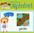 Flashcard letter G is for garden