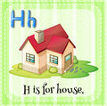 Flashcard letter H is for house Royalty Free Stock Photo