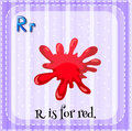 Flashcard of letter R Royalty Free Stock Photo