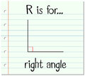 Flashcard letter R is for right angle Royalty Free Stock Photo