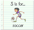 Flashcard letter S is for soccer Royalty Free Stock Photo