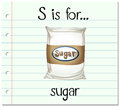 Flashcard letter S is for sugar