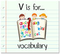 Flashcard letter V is for vocabulary Royalty Free Stock Photo