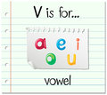 Flashcard letter V is for vowel Royalty Free Stock Photo
