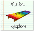 Flashcard letter X is for xylophone Royalty Free Stock Photo