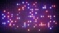 Flashing lightbulbs on disco wall abstract background