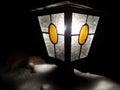 Flashlight fabulous winter on the street Royalty Free Stock Image