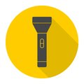 Flashlight Icon with long shadow