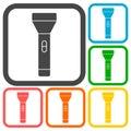 Flashlight Icons set