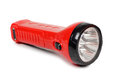 Flashlight red on a white background Royalty Free Stock Image