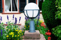 Flashlight to illuminate streets flower garden Stock Photography