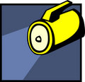 Flashlight vector illustration Royalty Free Stock Photography