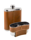 Flask the brown is photographed on the white background Royalty Free Stock Photos