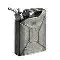 Flask in the shape of the canister pewter isolated on a white background Royalty Free Stock Photos