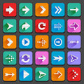 Flat arrow icons set of for your designs Stock Photography