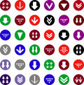 Flat arrow icons stock photo set of with arrows Stock Photography