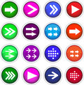 Flat arrow icons stock picture Royalty Free Stock Photo