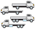 Flat Bed Trucks Royalty Free Stock Photo