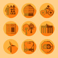 Flat Berlin icons with shadow Royalty Free Stock Photo